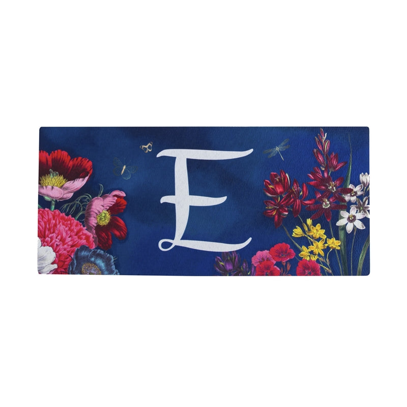 """Vivid Bouquet Monogram E""Switch Mat"