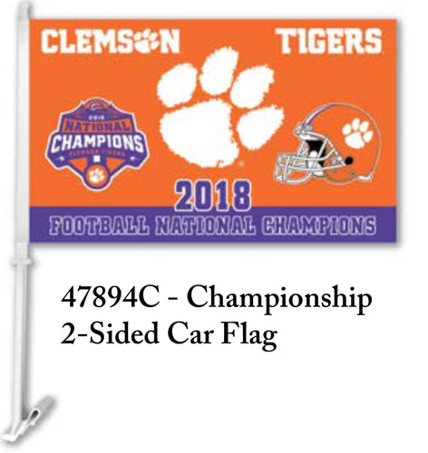 Clemson 2018 National Championship Car Flags