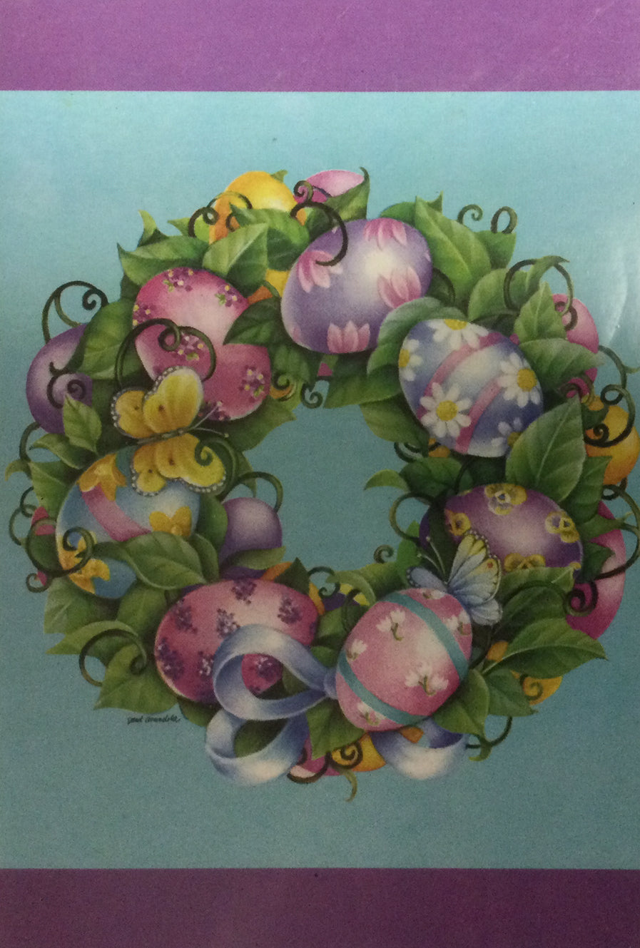 Easter Wreath House Flag