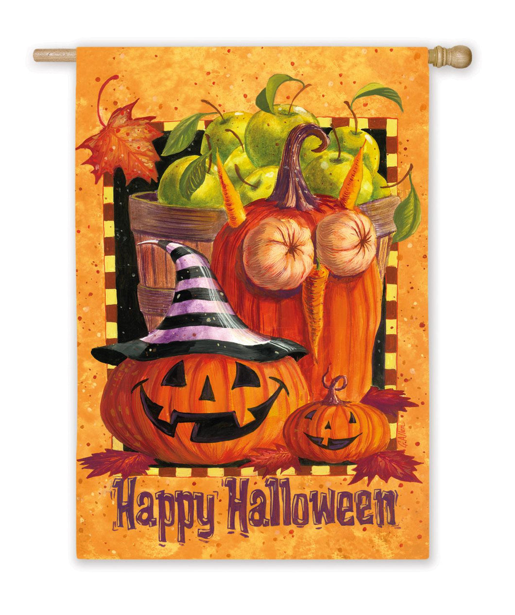 Happy Halloween Silk Reflections House Flag