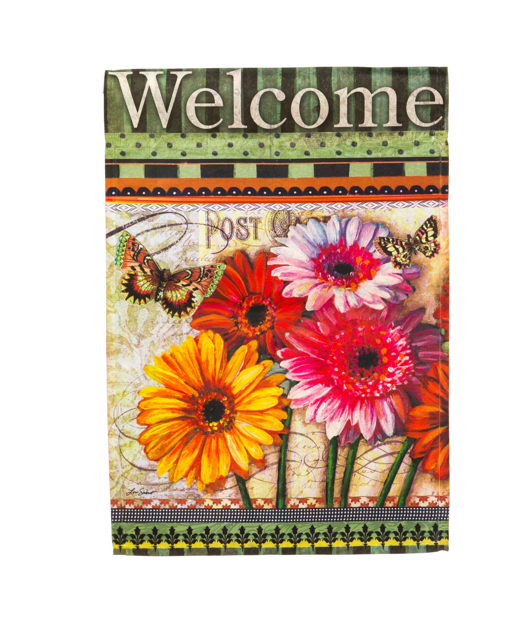 Floral Wishes Silk Reflections House Flag