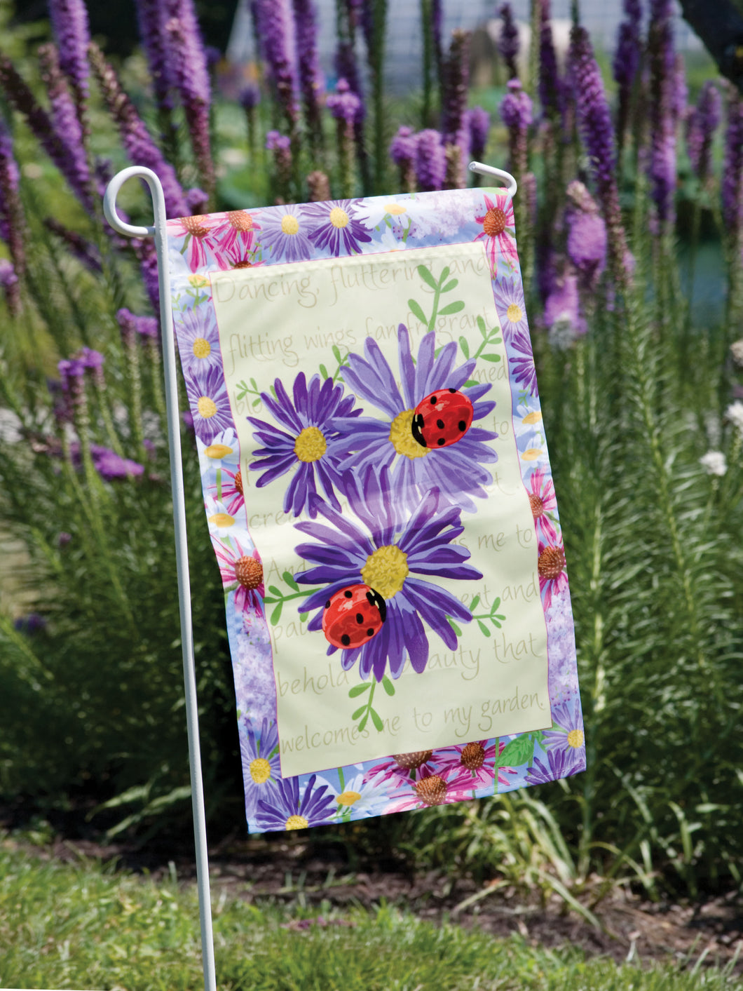 Flower Garden House Flag