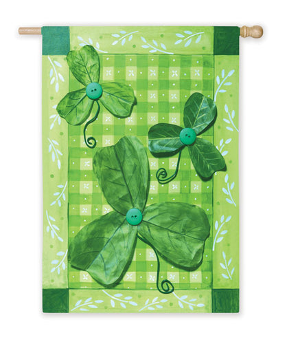 Luck O' The Irish Silk Reflections House Flag