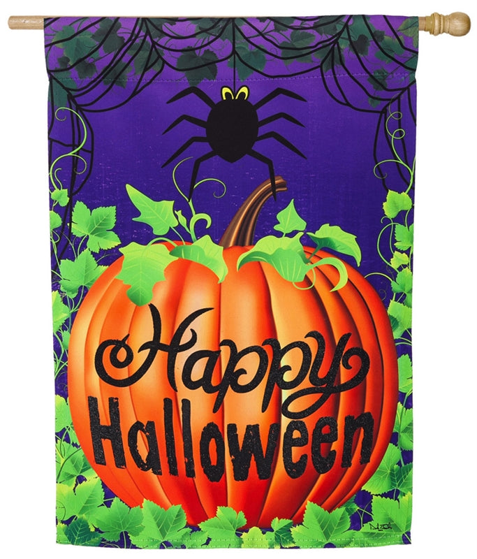 Halloween Spider Suede House flag