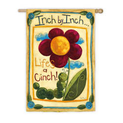 Life's A Cinch Suede Garden Flag