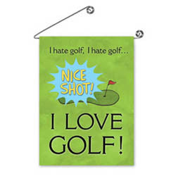 I Hate/Love Golf Garden Flag