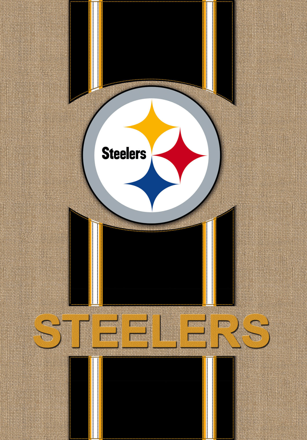 Pittsburg Steelers Burlap Garden Flag