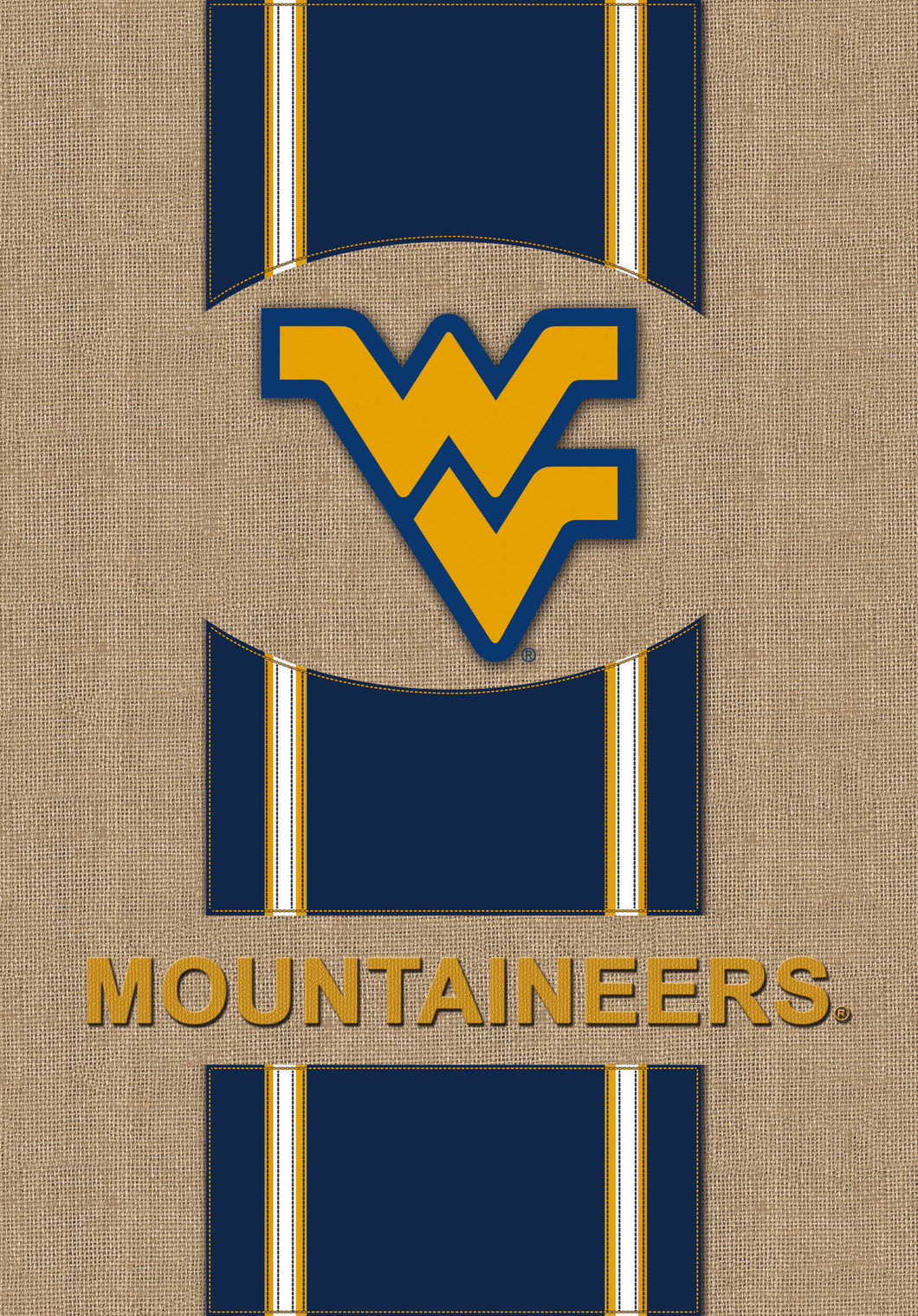 West Virginia Mountaineers Burlap Garden Flag