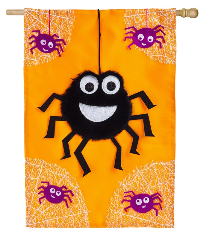 Dancing Spider Applique House Flag