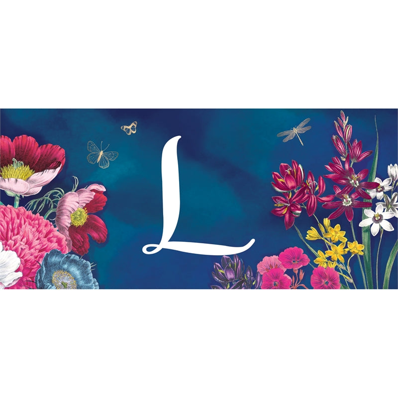 """Vivid Bouquet Monogram L"" Switch Mat"