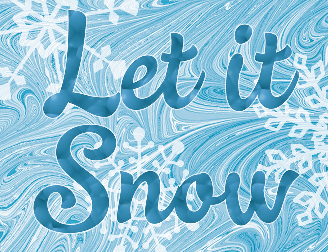 "Crate Plate ""Let It Snow"""