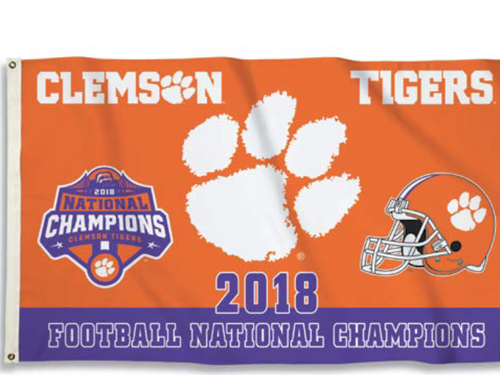 Clemson 2018 National Championship 3'x5' Flag