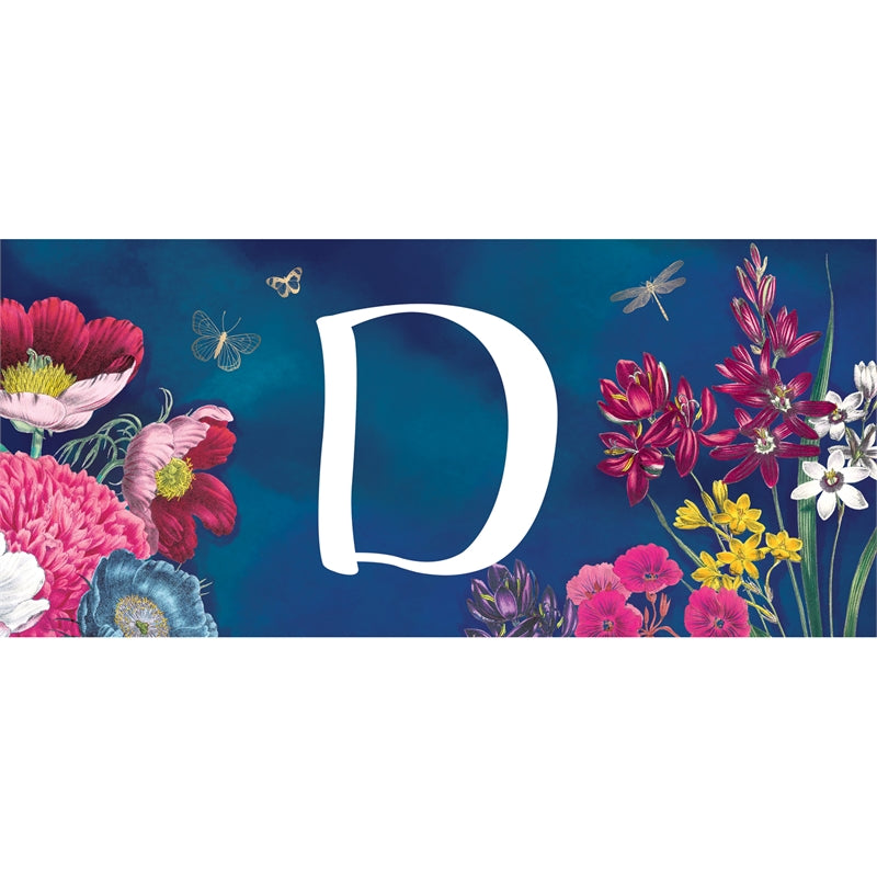 """Vivid Bouquet Monogram D"" Switch Mat"