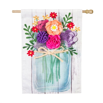 Mason Jar Bouquet Linen House Flag