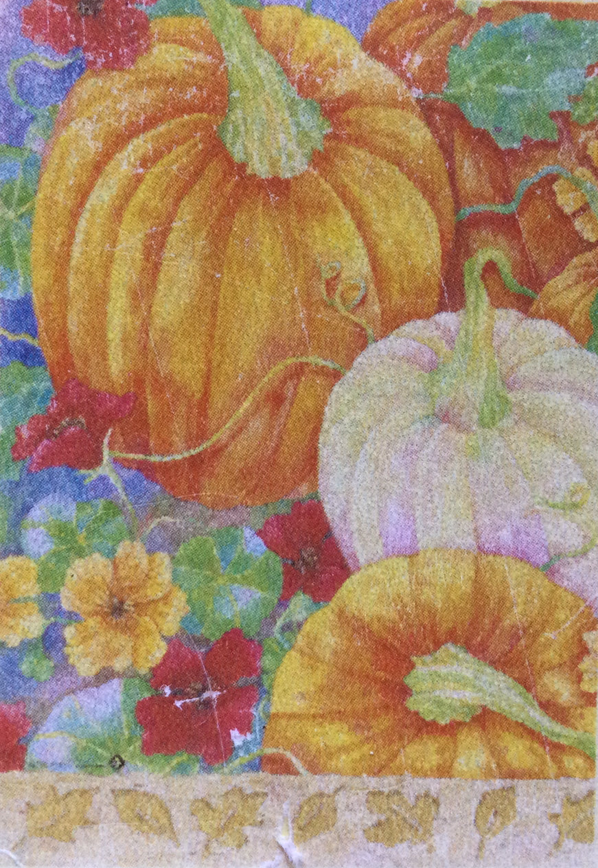 Pumpkins & Nasturtiums House Flag