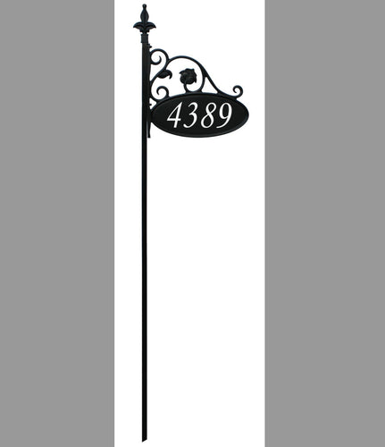 "58"" 911 Address Sign without Flag Arm"