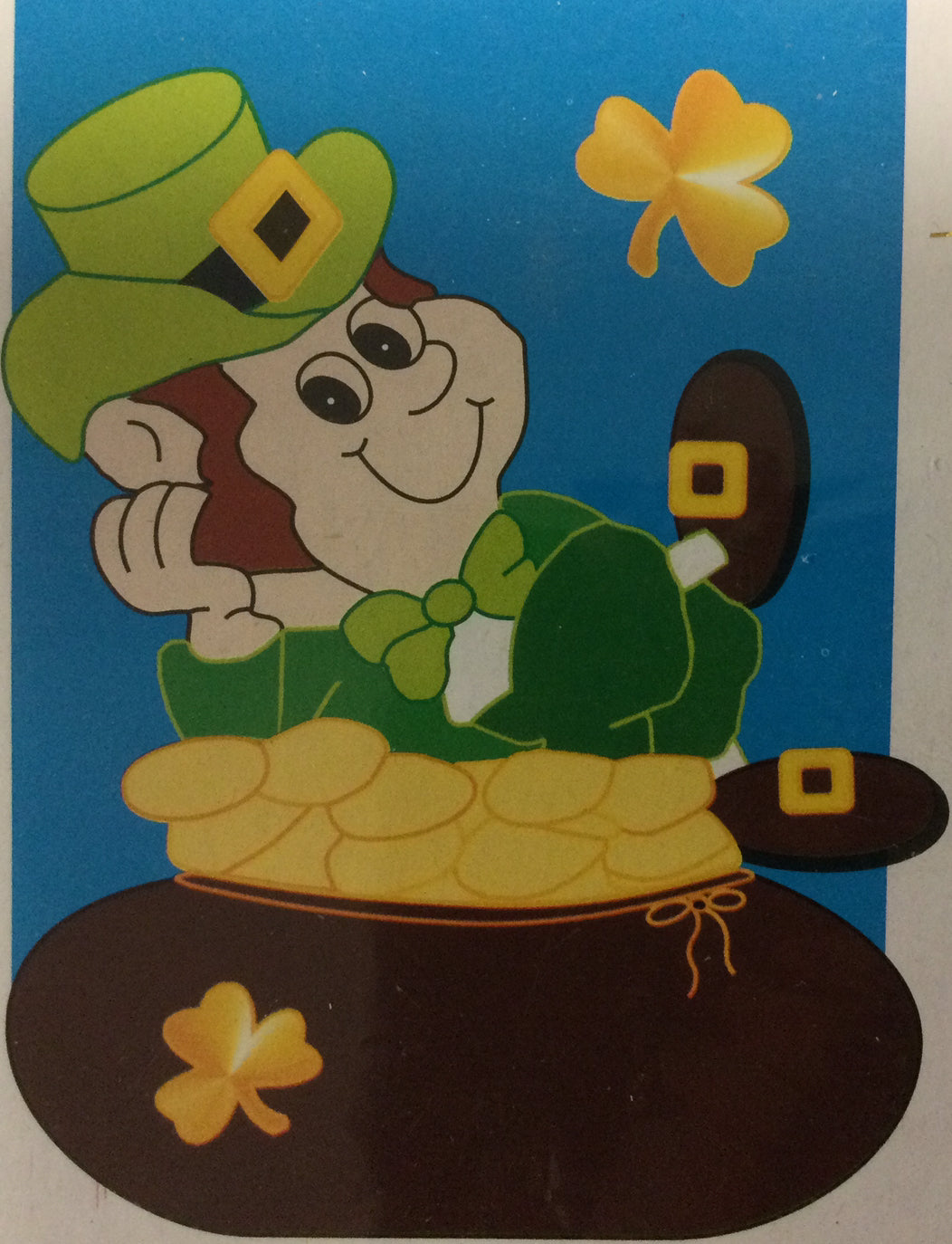 Leprechaun on Pot of Gold House Flag