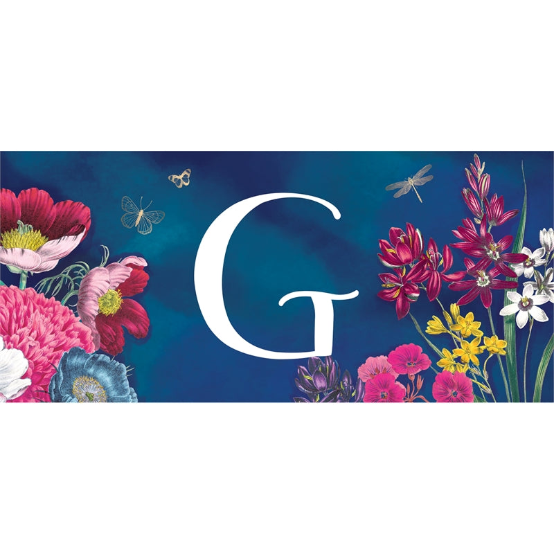 """Vivid Bouquet Monogram G"" Switch Mat"