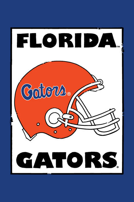 Florida Gators Helmet Garden Flag
