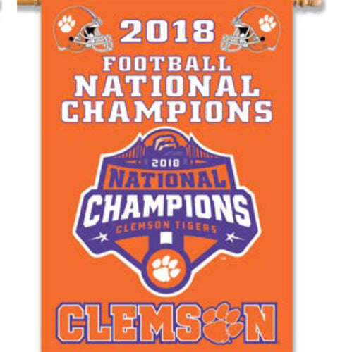 Clemson 2018 National Championship House Flag