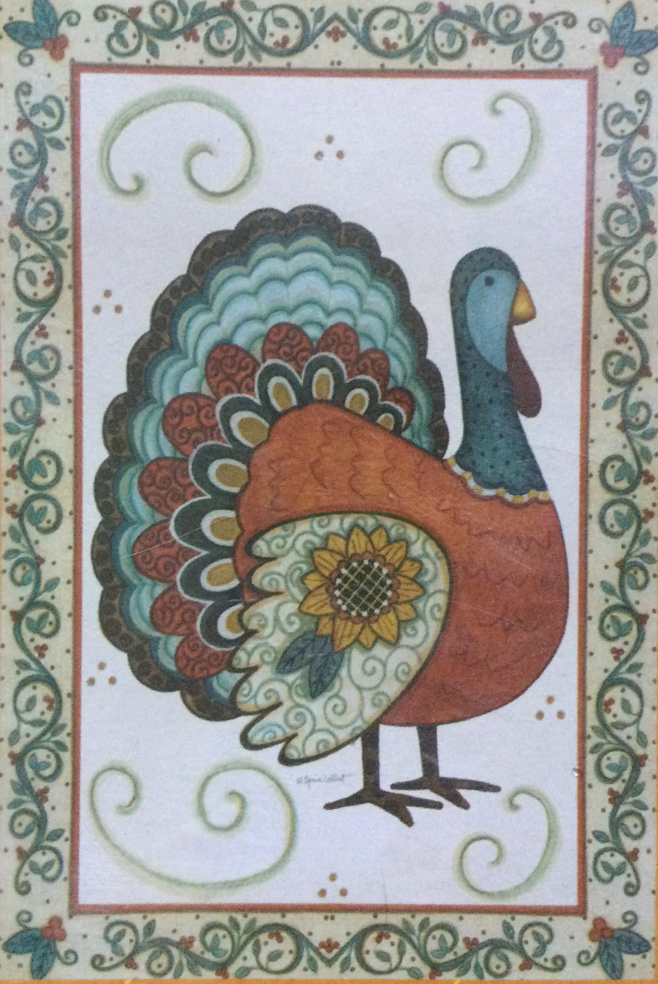 Turkey & Sunflower House Flag