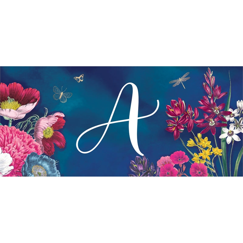 """Vivid Bouquet Monogram A"" Switch Mat"