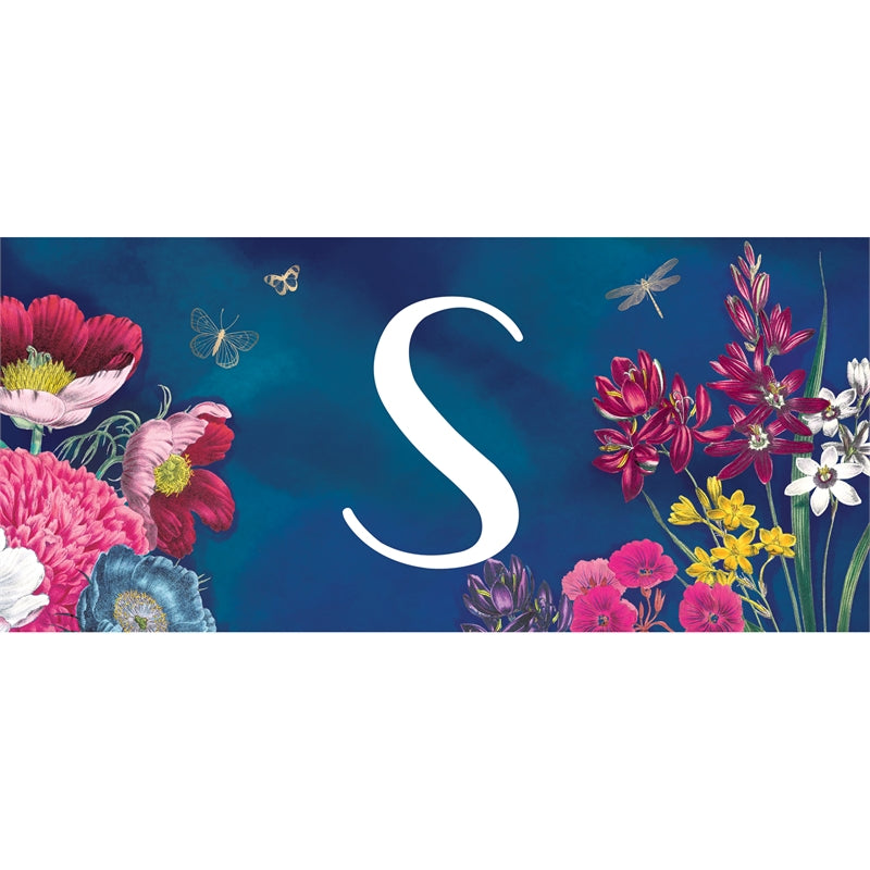 """Vivid Bouquet Monogram S"" Switch Mat"