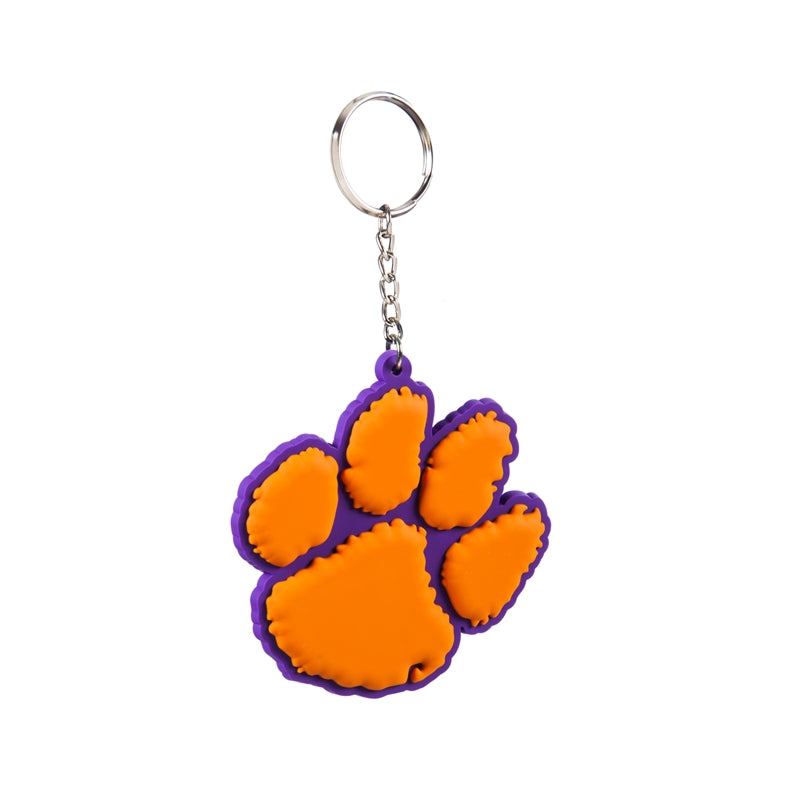 Clemson University Rubber Keychain