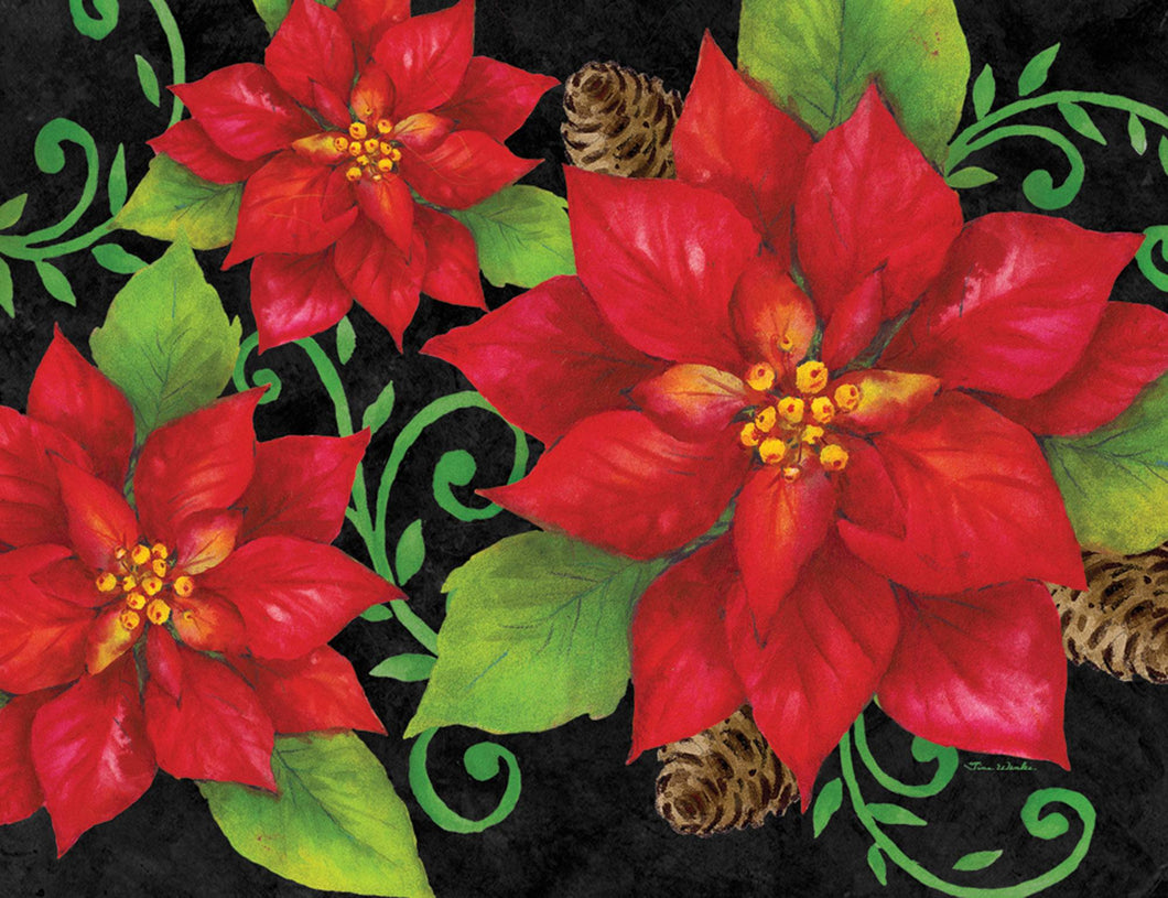 "Crate Plate ""Poinsettia"""