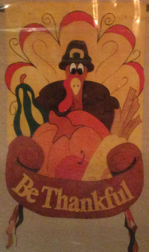 Be Thankful Turkey House Flag