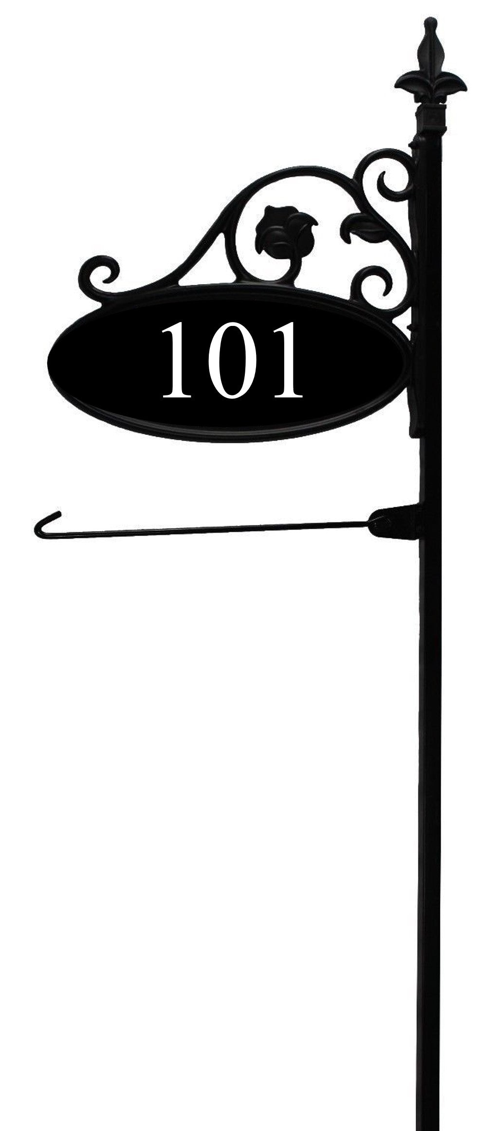 "58"" 911 Address Sign with Flag Arm"