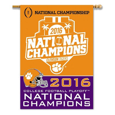Clemson 2016 National Champions House Flag