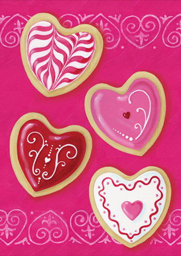 Heart Cookies Garden Flag
