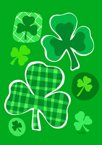 Lucky Clovers House Flag