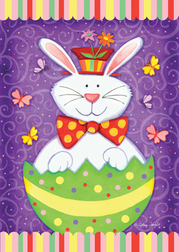 Bunny Surprise Garden Flag
