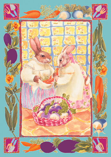 Bunny Ladies Garden Flag
