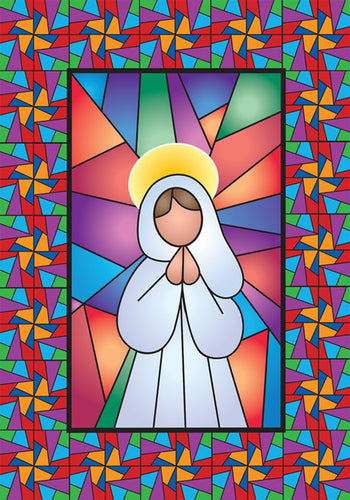 Stained Glass Angel Garden Flag