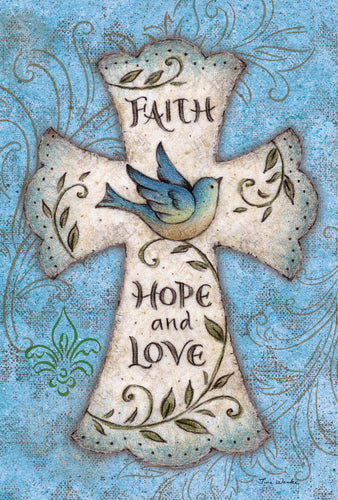 Faith Hope Love Garden Flag