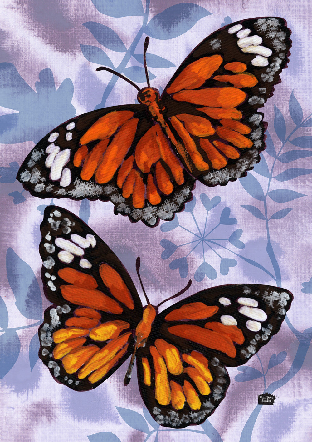 Flutter By Butterfly House Flag