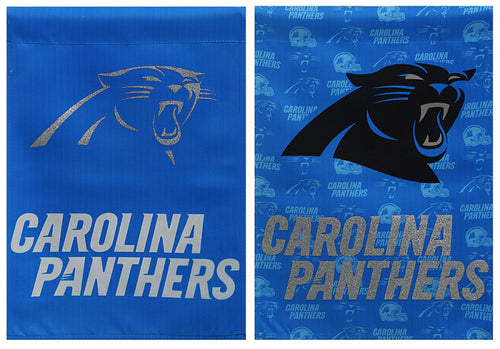 Carolina Panthers Suede/Glitter Garden Flag
