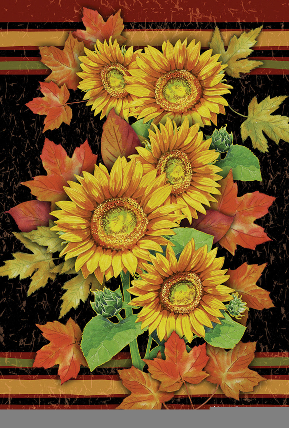 Sunflowers & Leaves Garden Flag