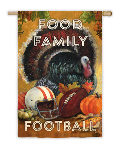 Food Family Football Suede House Flag