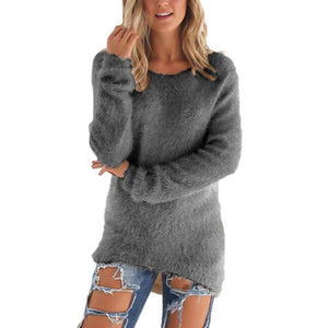 Warm Wool Blend Long Sleeve Sweater, Sweaters - Yadys.com