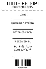 graphic about Free Printable Tooth Fairy Receipt identified as Teeth Fairy Receipt - Humorous Fable Productions