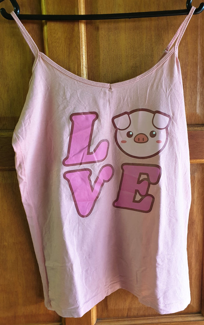 Pink LOVE Tank Top (Extra Large)