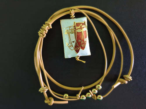 Gold Bracelet with Cat Face Charm