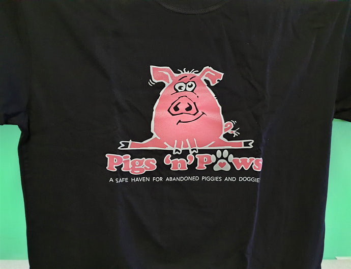 Pig Doing The Split (Black) (Extra, Extra Large)