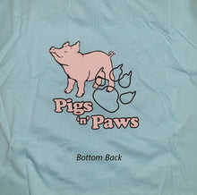 Live, Love, Oink Shirt (Light Blue) (Medium)