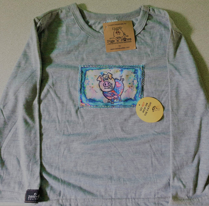 Kiddies Grey Long Sleeve Shirt - Ages 3/4