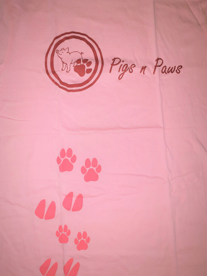 Pink T-Shirt (Front logo and paws) Extra Large